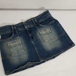 Guess denim stretch mini skirt